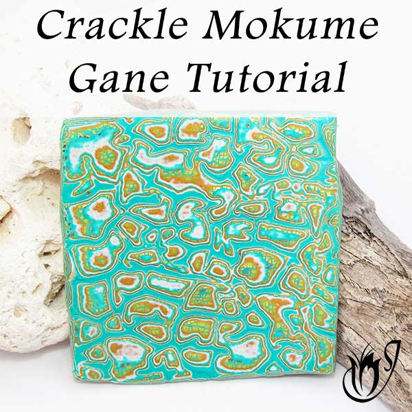 Mokume Gane Polymer Clay Crackle