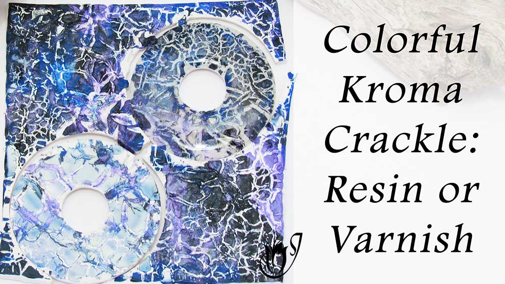 Colorful Kroma Polymer Clay Crackle: Resin or Varnish