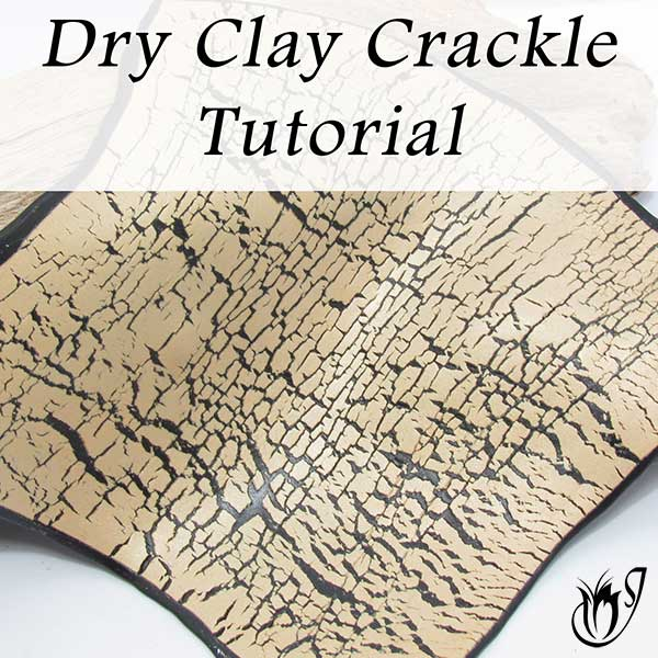 Dry polymer clay crackle