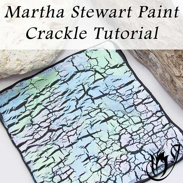 Martha Stewart Paint polymer clay crackle
