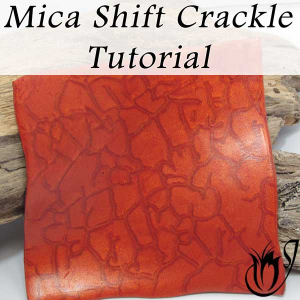 Mica Shift polymer clay crackle