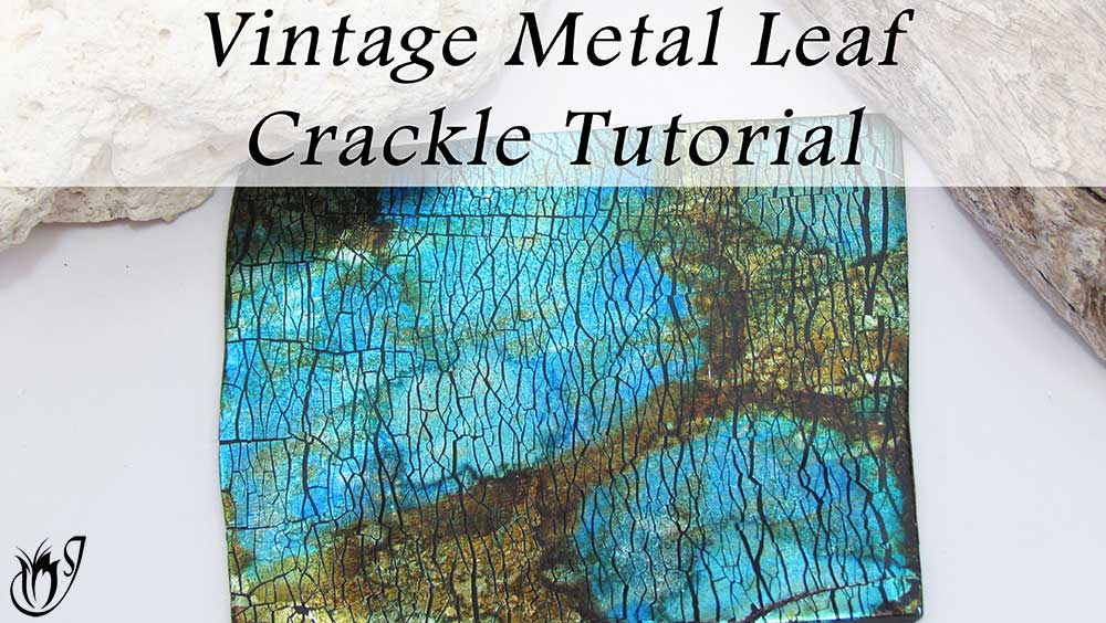 Vintage Metal Leaf Polymer clay Crackle