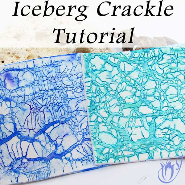 Iceberg Polymer clay crackle