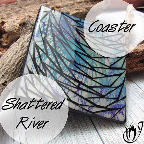 Shattered River Polymer Clay Coaster
