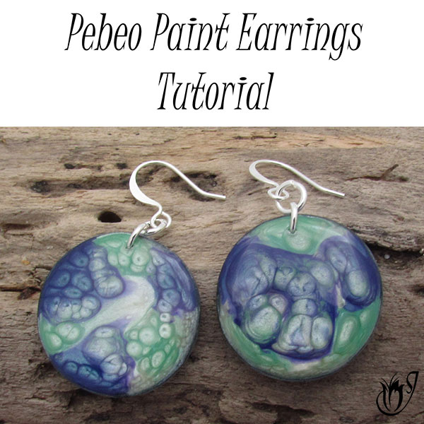 Polymer Clay Pebeo Paint Earrings