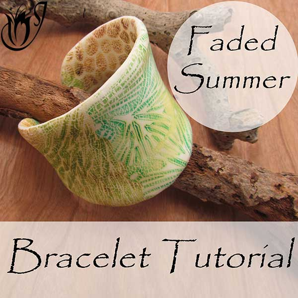 Faded summer polymer clay cuff