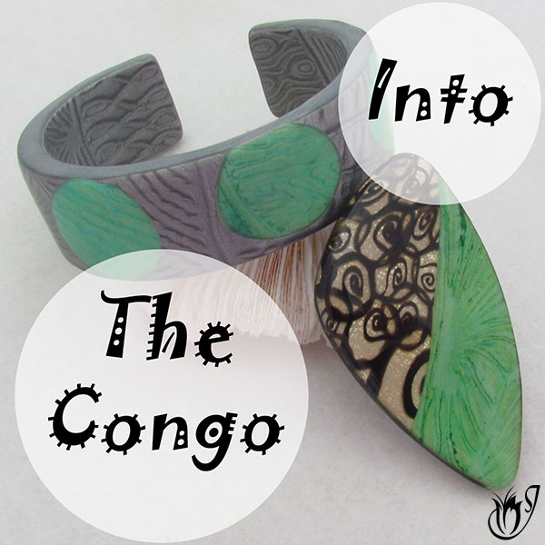Into the Congo Polymer Clay Bracelet