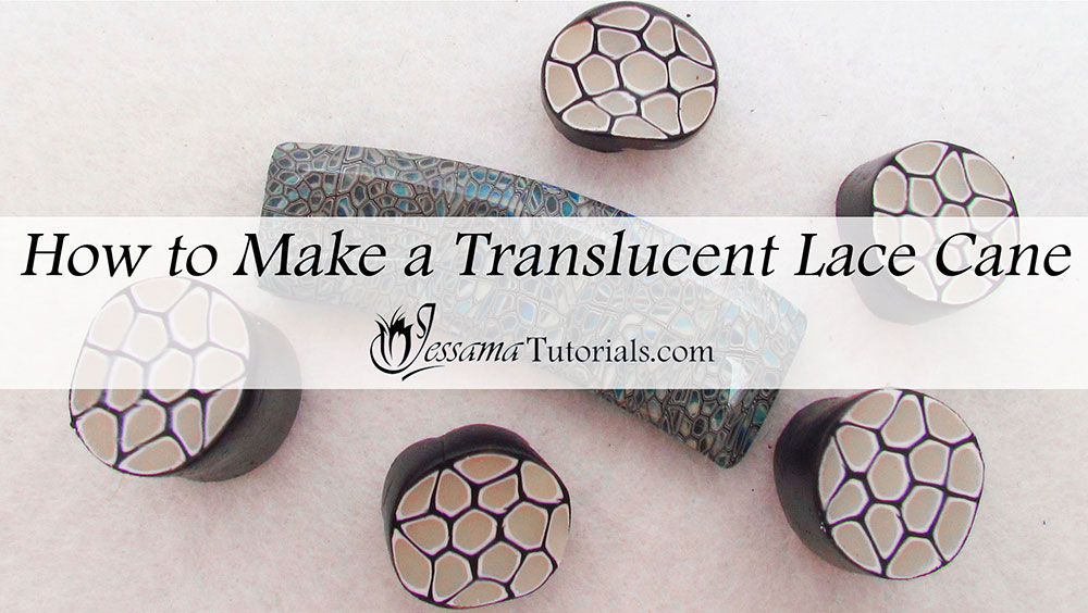 Translucent polymer clay lace cane tutorial
