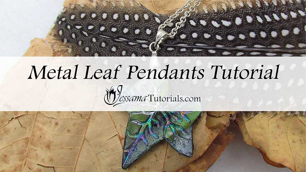 Polymer clay leaf bead project
