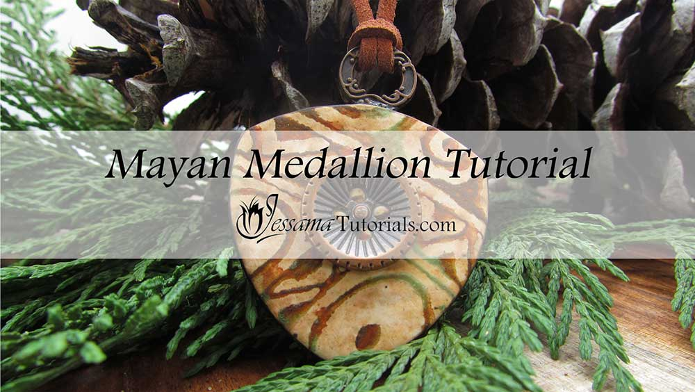 Mayan Polymer Clay Medallion