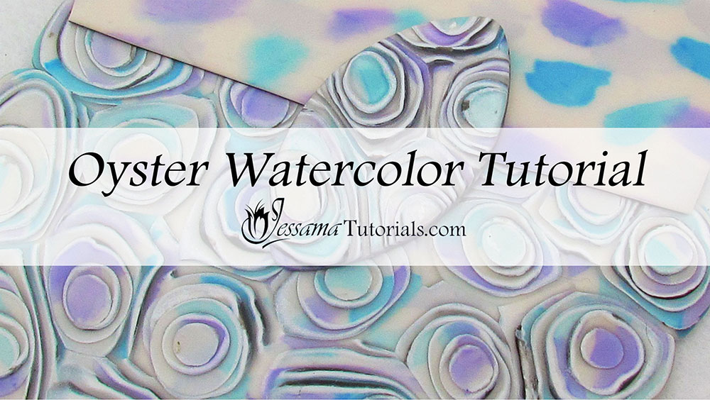 Polymer Clay Oyster watercolor Tutorial