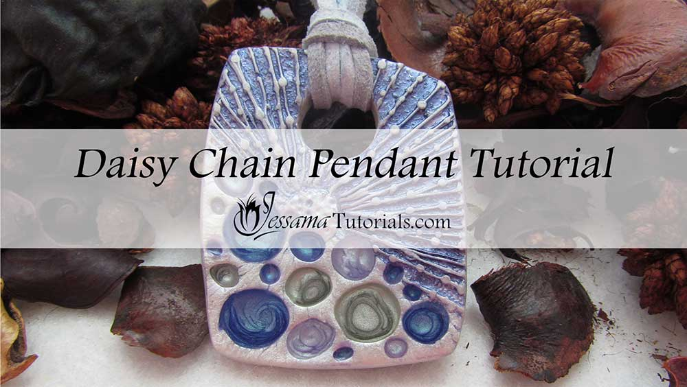 Pebeo Paint and Polymer Clay Daisy Chain Pendant
