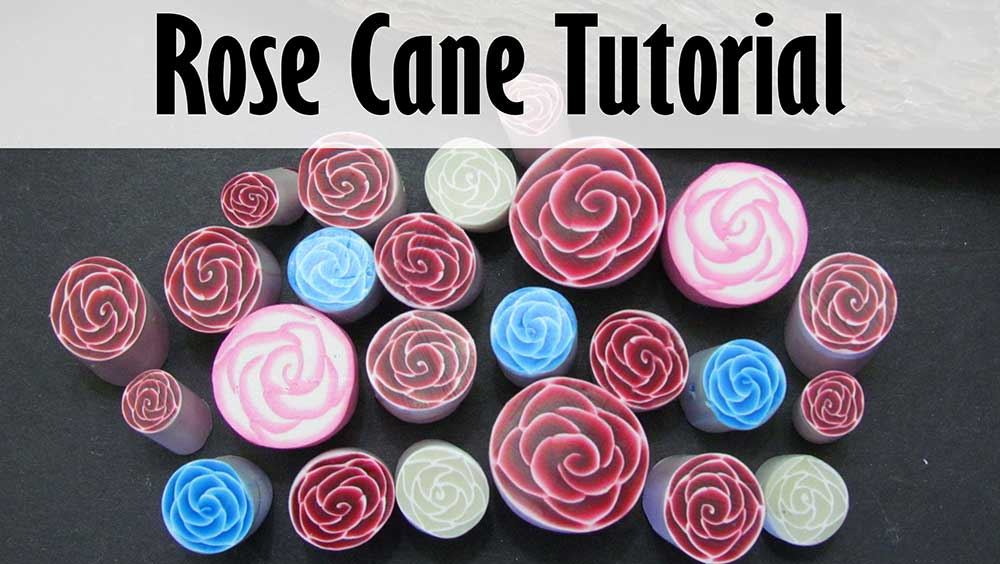Polymer clay rose canes