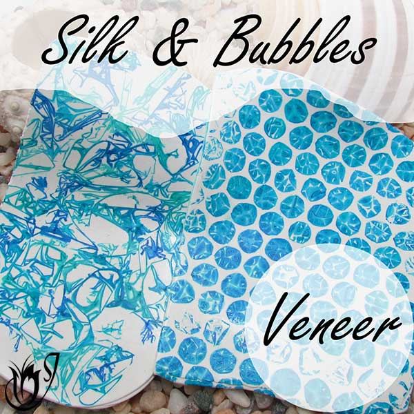 Silk and Bubbles Polymer clay alcohol ink veneer