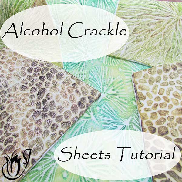 polymer clay crackle sheets