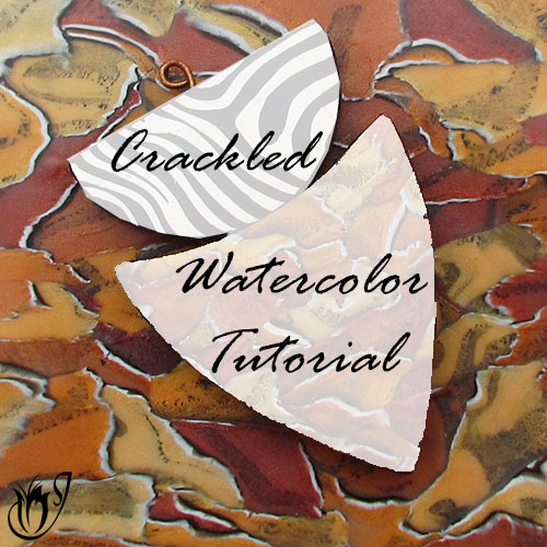 Crackled Skinner Blend Polymer Clay Watercolor