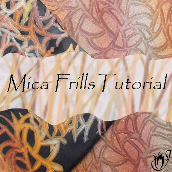 Polymer clay mica frills technique