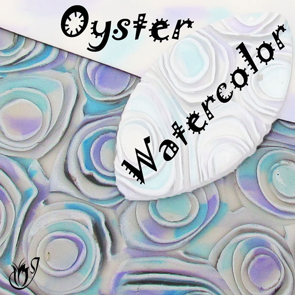 Polymer clay oyster watercolor technique
