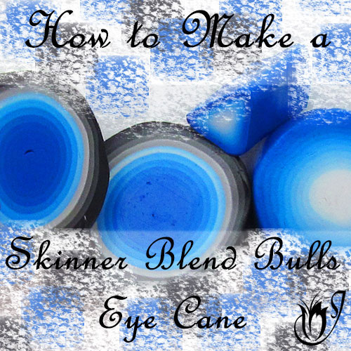 Polymer clay Skinner Blend Bulls Eye Canes