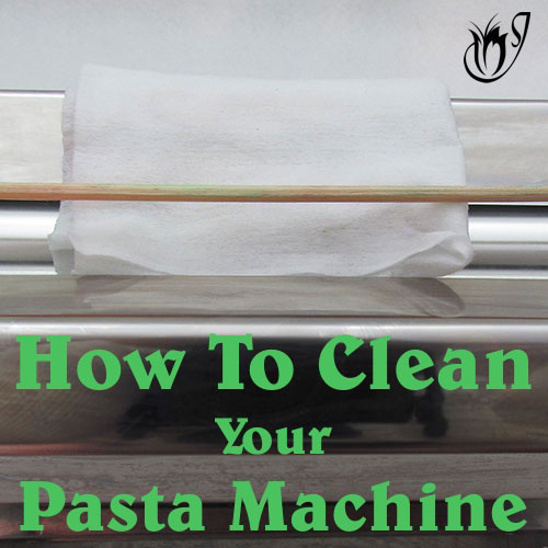 How to clean your polymer clay pasta machine