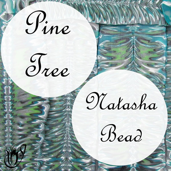 Polymer Clay Pine Tree Natasha Beads