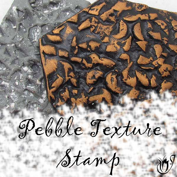 Handmade polymer clay pebble texture stamp