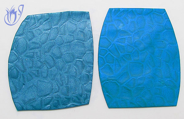 Blue mica shift sheets using Kato and Premo polymer clay