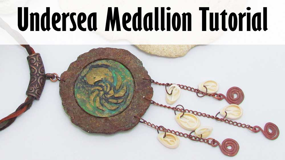 Under The Sea Polymer Clay Medallion