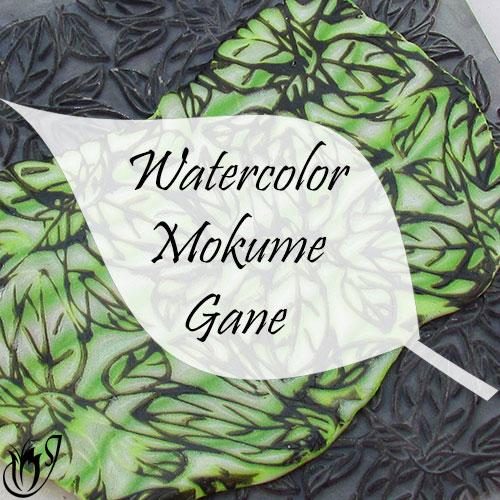 Watercolor polymer clay mokume gane