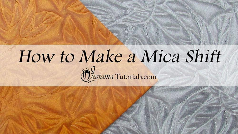 polymer clay mica shift tutorial
