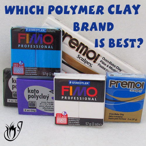 Various brands of polymer clay