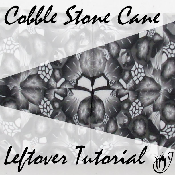 Polymer clay Cobble Stone Cane