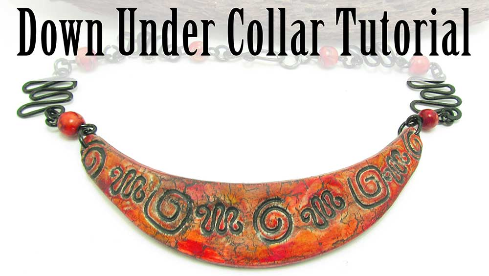 Down Under Polymer Clay Bib Collar