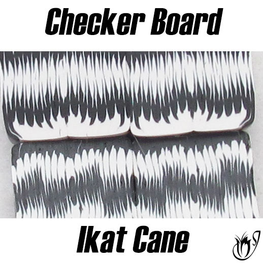 Polymer Clay Checker Board Ikat Canes