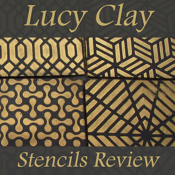 Lucy Clay Stencil Patterns on Polymer Clay