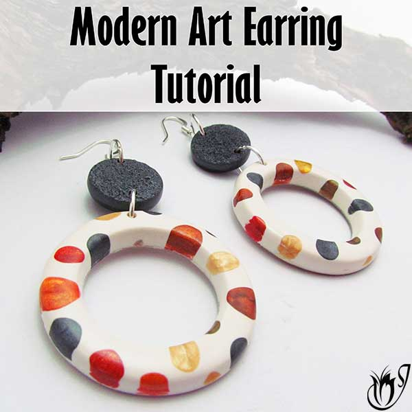 Modern Art Polymer Clay Earrings