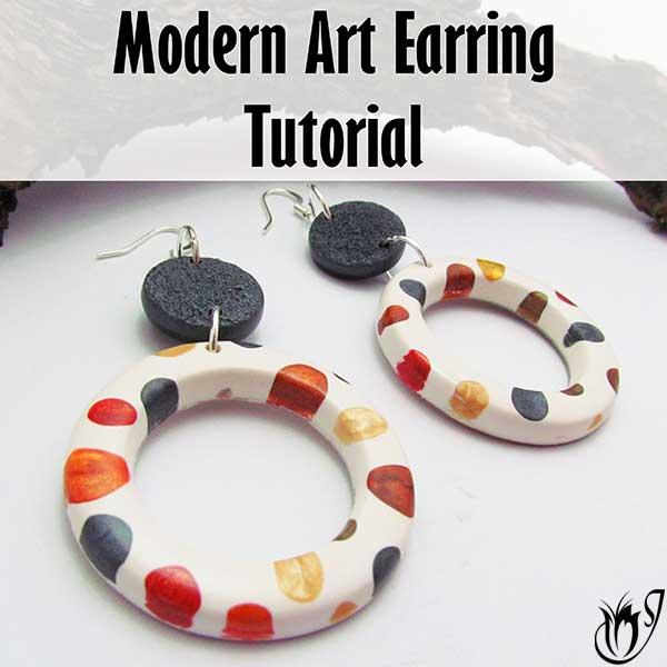 Modern Art Polymer Clay Earrings