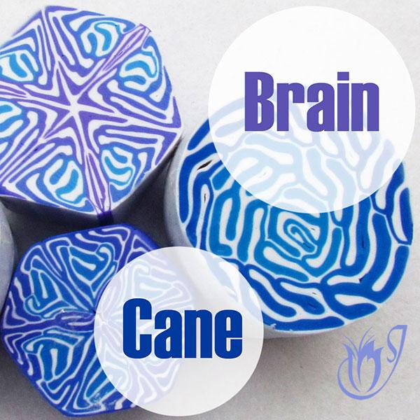 Polymer clay brain cane