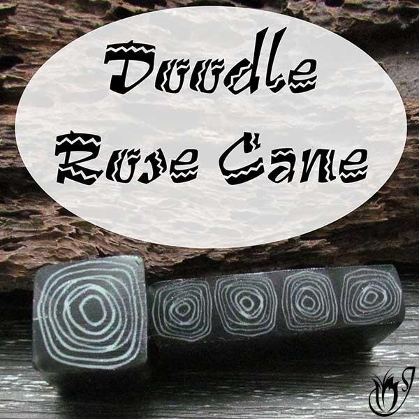 Doodle Rose Cane