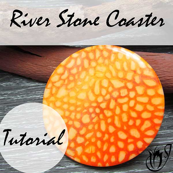 Polymer Clay Riverstone Coaster