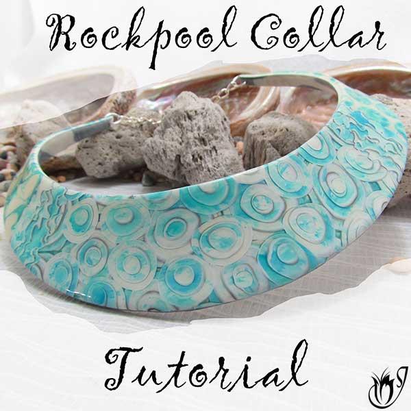 Rockpool Polymer Clay Collar