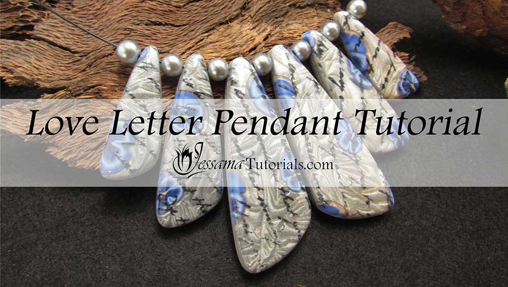 love letter polymer clay pendants