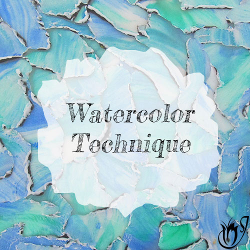 Polymer clay watercolor technique