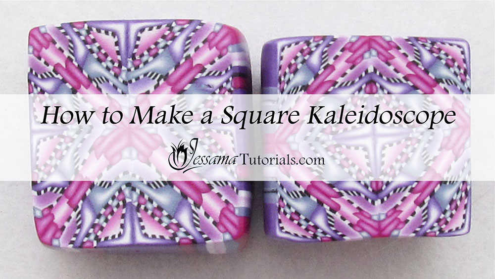 Square polymer clay Kaleidoscope Canes